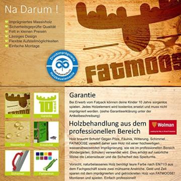 FATMOOSE Stelzenhaus FunFactory Fit XXL Spielturm Baumhaus Spielhaus mit Schaukel und apfelgrüner Rutsche - 6