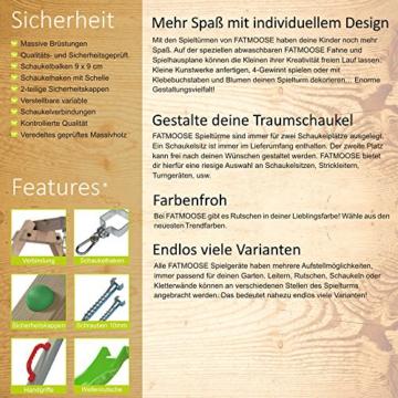 FATMOOSE Stelzenhaus FunFactory Fit XXL Spielturm Baumhaus Spielhaus mit Schaukel und apfelgrüner Rutsche - 7