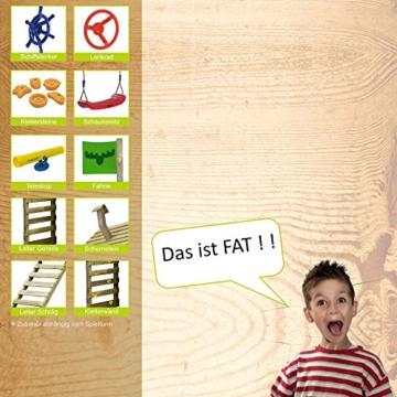 FATMOOSE Stelzenhaus FunFactory Fit XXL Spielturm Baumhaus Spielhaus mit Schaukel und apfelgrüner Rutsche - 8
