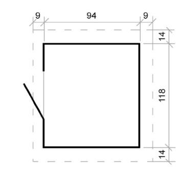 Kinder Spielhaus Leonie 1,05 x 1,30 Meter aus 19mm Blockbohlen - Kinder Gartenhaus Kinderspielhaus Kinderhaus Spielhaus Holz inkl. Dachpappe und Fußboden - 7