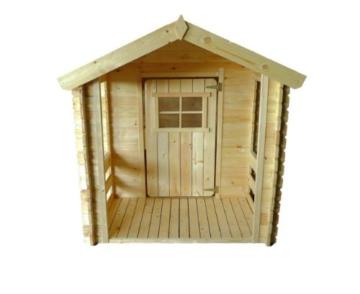 Kinderspielhaus - 1,75 x 1,30 Meter aus 19mm Blockbohlen - Kinder Gartenhaus Kinderspielhaus Kinderhaus Spielhaus Holz inkl. Dachpappe und Fußboden - 6