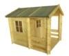 Kinderspielhaus - 1,75 x 1,30 Meter aus 19mm Blockbohlen - Kinder Gartenhaus Kinderspielhaus Kinderhaus Spielhaus Holz inkl. Dachpappe und Fußboden - 1