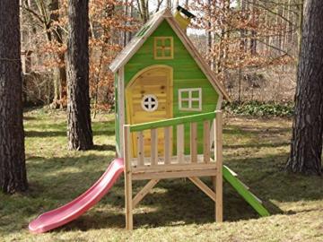 Kinderspielhaus MAYA - Stelzenhaus aus Holz mit Rutsche - 2