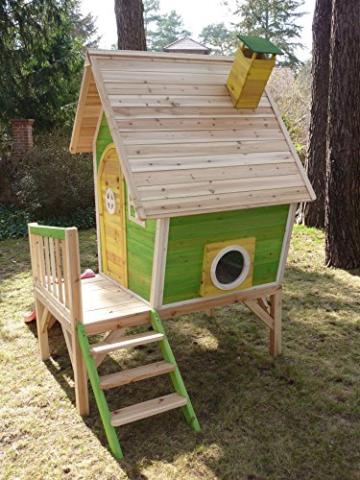Kinderspielhaus MAYA - Stelzenhaus aus Holz mit Rutsche - 3