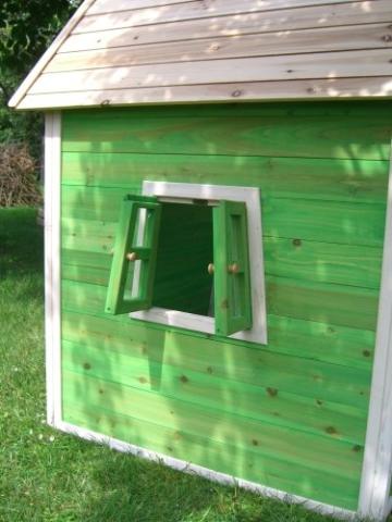 Kinderspielhaus MAYA - Stelzenhaus aus Holz mit Rutsche - 6