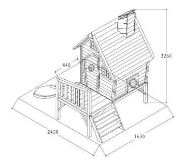 Kinderspielhaus MAYA - Stelzenhaus aus Holz mit Rutsche - 8
