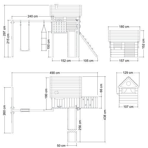 wickey stelzenhaus smart plaza baumhaus spielturm mit rutsche spielhaus und schaukel blaue. Black Bedroom Furniture Sets. Home Design Ideas